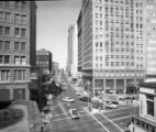 Five Points, looking west down Marietta Street, Atlanta, Georgia, 1962.