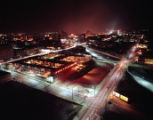 Night view, aerial photo of the Heart of Atlanta Motel, looking northwest, Atlanta, Georgia,...