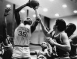Georgia State University Panther, Reggie Chennault, during a basketball game against Southeastern...