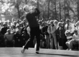 Golf pro, Jack Nicklaus at Masters golf tournament, 1965?