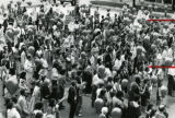 Protesters interfering with a public hearing on the construction of Freedom Parkway, Atlanta,...
