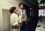Atlanta Braves player Dale Murphy and his wife Nancy during a press conference honoring his Most...