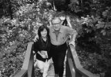 Poet Barbara Nector Davis and her husband, photographer Robert Martin Davis, outside their home,...