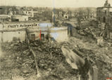 Ruins of a hardware store and auto agency after the 1936 tornado, Gainesville, Georgia, April 1936.