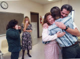 Bride and groom (inmate) get married in the Ware County Correctional Institute, Waycross, Georgia,...