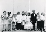 Children lined up at a wedding party, Georgia, February 26, 1987.
