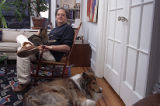 "Pulitzer Prize-winning author of ""Driving Miss Daisy,"" Alfred Uhry, at his home with his..."