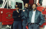 African-American firefighters fight Atlanta policy that they shave their beards, Atlanta, Georgia,...