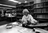 Elfriede Kristwald studying in the Georgia State University Library, Atlanta, Georgia, January 28,...