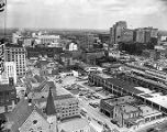 Downtown Atlanta, looking northwest from the Georgia State Capitol, Atlanta, Georgia, October 1950.