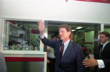 Democratic vice-presidential candidate Al Gore at the Varsity during the 1992 presidential...