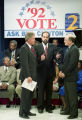 Presidential candidate Bill Clinton, appearing with Dr. Bill McClatchey on WSB-TV, Atlanta,...