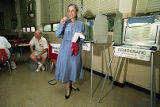 Georgia State Representative Cathey Steinberg voting in the general primary for the U.S. Senate,...