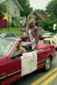 Miss Gay USA 1991, Sable Chanel, riding in the Gay Pride Day parade, Atlanta, Geogia, June 23,...