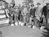 Ground breaking ceremony at Buford Dam with Governor Herman Talmadge, Weldon Garner, E. L. Hart,...