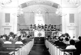Choir at the Chapel of all Faiths Central, Milledgeville State Hospital, Milledgeville, Georgia,...