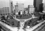 Woodruff Park, seen from atop the 10 Park Place building, Atlanta, Georgia, April 23, 1987.