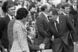President Nixon and Governor Wallace at Honor America Day Ceremonies, Huntsville, Alabama,...