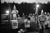 Marietta chiropractor and member of the Knights of the Ku Klux Klan, Ed Fields, speaking at a KKK...