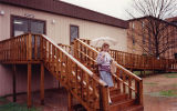 Chemistry instructor Marianne Scale leaving the science annex at Kennesaw State University (then...
