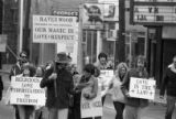 Ebenezer Baptist Church protest following the acquittal of the Greensboro massacre killers,...