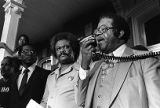 Tyrone Brooks and other civil rights leaders speaking at a civil rights rally, Social Circle,...