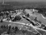 Aerial view of the post hospital at Fort Benning, Georgia, 1935.