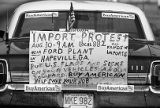 Sinage at a Union Auto Workers protest against imported goods, Hapeville, Georgia, August 30, 1980.