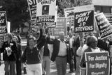 Protestors boycotting the J.P. Stevens Company, Woodruff Park, Atlanta, Georgia, October 16, 1980.
