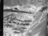 Allatoona hydroelectric dam under construction, Bartow County, Georgia, May 1948.