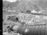 Scroll case construction at the Allatoona hydroelectric dam, Bartow County, Georgia, May 1948.