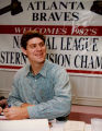 Former Atlanta Brave and current Philidelphia Phillie, Dale Murphy, with fans at a reunion for...