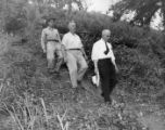 Goverment officials on an inspection tour of the Kolomoki Burial Mounds, Blakely, Georgia, July 1,...