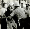 African American man fighting with police during the a riot on Capitol Avenue, Atlanta, Georgia,...