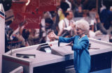 Ann Richards speaking at the Democratic National Convention, Atlanta, Georgia, July 18, 1988.