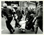 Police drag away a rioter, Atlanta, Georgia, February 16, 1971.
