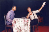 "Thomas Byrd and Haynes Brooke in Barbara Lebow's ""Trains,"" at the Academy Theater,..."