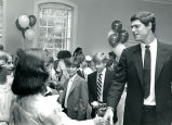 Atlanta Braves player Dale Murphy, speaker at Trinity School, 6th-grade graduation ceremony,...
