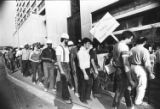 Labor activists rally downtown, Atlanta, Georgia, May 14, 1982.