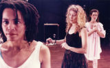 "Celeste Miller choreostaging Julie Hebert's ""Almost Asleep,"" at 7 Stages Theatre,..."