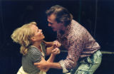 "Catherine Larson and Ryan Wicker in Georg Seidel's ""Carmen Kittel,"" at 7 Stages Theatre,..."