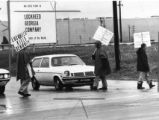 Picketers outside Lockhead plant, Marietta, Georgia, November 1977.