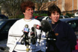 Press conference for the Otherside Lounge bombing, Atlanta, Georgia, February 22, 1997.