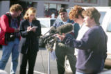Press conference at the Otherside Lounge bombing, Atlanta, Georgia, February 22, 1997.