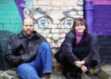 Tim Habeger and Kathleen Wattis, two actors at 7 Stages Theatre, Atlanta, Georgia, February 12,...