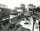 View of Decatur Street storefronts, 1950s