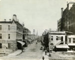 Whitehall Street, looking north towards Five Points, 1875