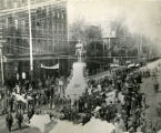 Fraternal Order of Red Men gather at the Grady Monument before marching to the exposition in...
