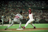Atlanta Braves first baseman Fred McGriff during Game 2 of National League Championship Series,...