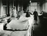 Young boy patients in hospital beds, circa 1920s